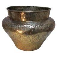 Antique Brass Jardiniere