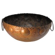 Arts Crafts Style Copper Bowl