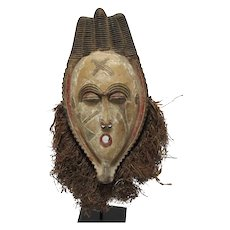 Old African Terra Cotta  Mask from the Ivory Coast