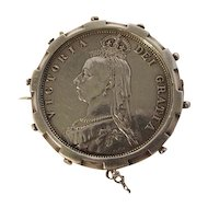1887 Queen Victoria English Silver Half Crown coin