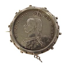 1887 Queen Victoria English Silver Half Crown coin