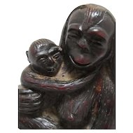 Japanese Sculpture of Monkey / Primate