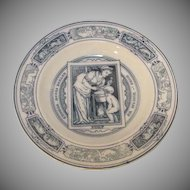 Antique Wedgwood Health Soup Bowl 1877