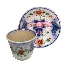Gaudy Dutch Welsh Cup and Saucer