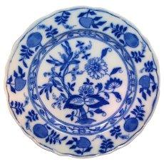 Meissen style Onion Pattern Soup Bowl