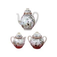Kutani Teapot Sugar Bowl Creamer