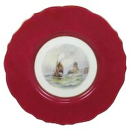 Royal Crown Derby Cabinet Plate by W E J Dean
