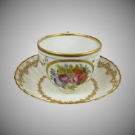 19th Century  Royal Crown Derby  Cup and Saucer