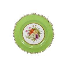 Antique Royal Crown Derby Botanical Cabinet Plate