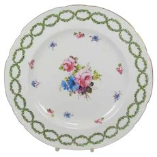 Royal Crown Derby Plate From J. Mortlock's of Oxford St London