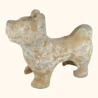 "Miniature Chinese Han Dynasty Pottery Dog  Circa 210 BC  5  3/4"" Tall"