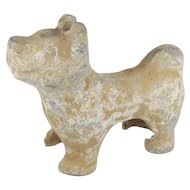Chinese Han Dynasty Pottery Dog