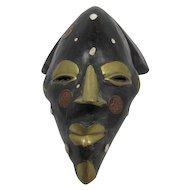 African Wood and  Coin Mask Nigeria