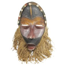 Carved wood African Tribal Mask Dan 14 inches tall