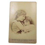 Two Orphans Cabinet Card Chicago