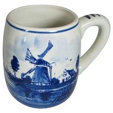 Dutch Hand painted Delft style Mug