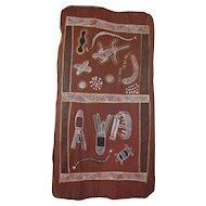 Australian Mid-Century Aboriginal Bark Painting