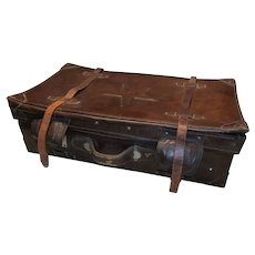 Chinese Leather Suitcase with Star Emblem
