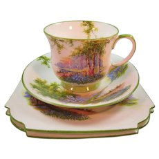 Pottery & China Noritake Kent 4 Tea Cups & 6 Saucers Silver Pink Flower Green Leaves Lustrous Noritake