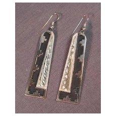 Art Deco Sterling Silver Navajo Earrings