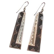 Art Deco Sterling Silver Navajo Earrings