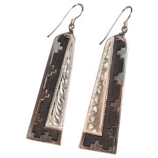Art Deco Style Navajo Earrings