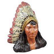 Native American Indian Chalk-ware Sculpture