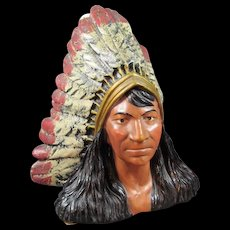 Native American Indian Chalk-ware Sculpture