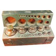Antique Set Of Set Brass Weights