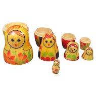 Five Russian Nesting Dolls