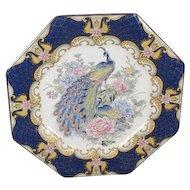 Porcelain Peacock Serving Plate