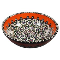 Turkish Pottery Bowl