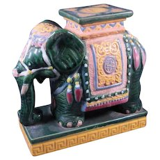 Asian Style Pottery Elephant