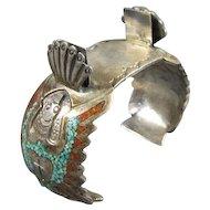 Sterling Native American Style Watch Cuff
