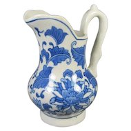 Ceramic Blue and White Pitcher