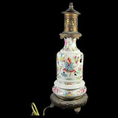 Chinese Famille Rose Vase/ Lamp