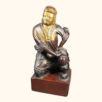 Antique Oriental Carved Wood Figure