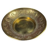 Chinese Gilt Bronze Zodiac Tray