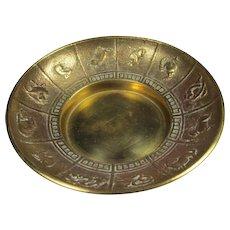 Chinese Gilt Bronze Zodiac Tray