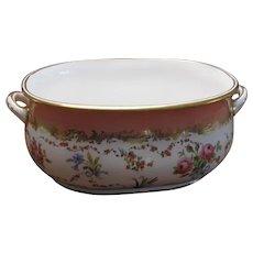 Rare 19th Century Floral Minton Foot Bath