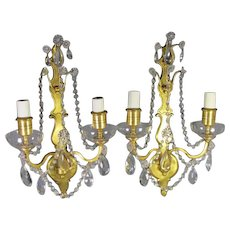 Gilt Bronze Sconces from the  Sterling Bronze Co.
