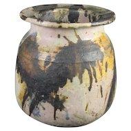 Unique Art Pottery Stoneware Jar Signed