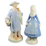 Pr  Porcelain Dutch  Figures