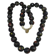 Antique African Clay Trade Bead Necklace Venetian Glass Inlays