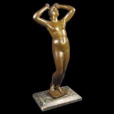 Antique  [Grand Tour ]  Venus Figure in Bronze
