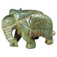 Carved Hard-stone Elephant
