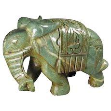 Carved Hard-stone Elephant
