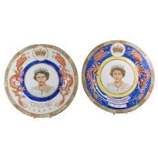 Queen Elizabeth Coronation Dragon Plates from China