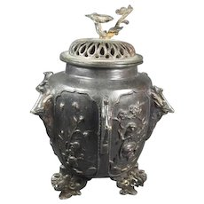 Japanese  Bronze Covered Jar/Vase
