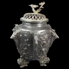 Japanese  Bronze Covered Jar/Vase